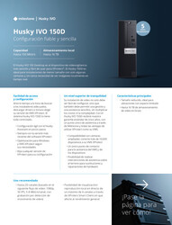 Husky IVO (all models ) - Specification Sheets