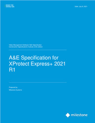 XProtect Express+ CSI A&E Specification Sheet