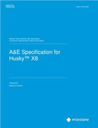 Husky X8 CSI A&E Specifications