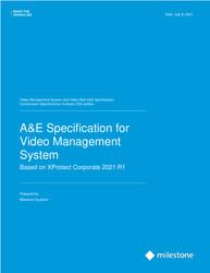 XProtect Corporate Open CSI A&E Specification Sheet