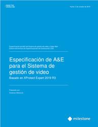 XProtect Expert CSI A&E Specification Sheet