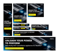 Husky IVO – Webbanners –Unleash your power to perform